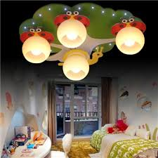contemporary simple led colorful spray painted craftsmanship glass flush mounted ceiling light 4 lights energy saving
