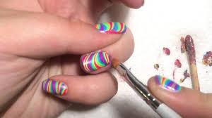 How to do nail art at home | easy water marble nail art | nail art ...