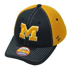 Zephyr Hat Size Chart Details About Ncaa Zephyr Michigan Wolverine Flex Fit Youth Kids Jersey Mesh Hat Cap Blue