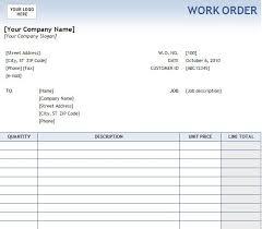 Printable Work Order Forms Free Printable Work Order Forms 10 Reinadela Selva