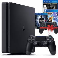 Bộ máy PS4 Slim 1TB CUH-2218B kèm 2 tay bấm + 3 đĩa game Uncharted 4,  Ratchet & Clank, The Last Of Us - Playstation Hàng chính hãng - PlayStation  Thương hiệu Sony