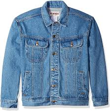 Wrangler Men's <b>Classic</b> Jacket-Motorcycle Edition, <b>Vintage Denim</b>, M