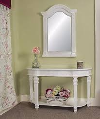 hallway table and mirror. Image Is Loading White-Table-Console-Mirror-Antique-Style-Hall-Table- Hallway Table And Mirror T