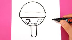 How To Draw A Lollipop Super Cute And Easy