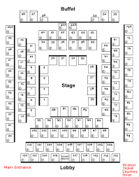 Stephen Foster Story Seating Chart Seating Chart Derby Dinner Playhouse