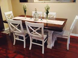 How to refinish a dining room table Makeover Black Farmhouse Dining Table Elegant Refinished Dining Room Table Dark Stained Top And Painted White Plaisirsquotidienscom Black Farmhouse Dining Table Elegant Refinished Dining Room Table
