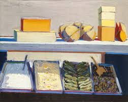 oil on canvas 27 x 34 in 68 58 x 86 36 cm collection of the oakland museum of california gift of concours d antiques art guild art wayne thiebaud