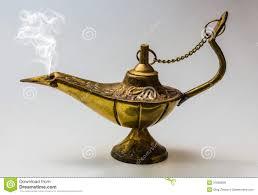 Design Wish Genie Aladdin Magic Lamp East Design Stock Photo Image Of Fable