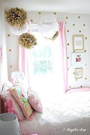 Pink And Gold Girls Room A Shabby Chic Glam Girls Bedroom Design ...