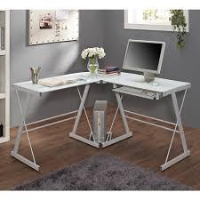 white metal furniture. Atrium Metal And Glass L-shaped Computer Desk, Multiple Colors - Walmart.com White Furniture
