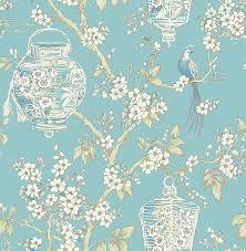 Vogels Behang Bloemen Oosterse Lantaarns Floral A Street Prints
