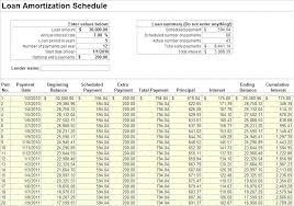 Schedule On Excel Download Free Loan Amortization Schedule For Excel