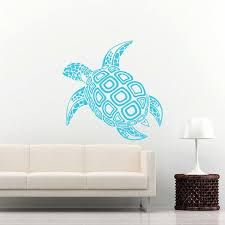 sea turtle wall decal ocean sea animals