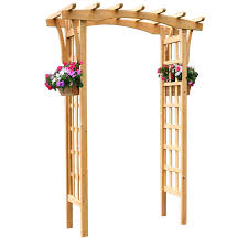 garden arbor lowes. Garden Treasures 64-in W X 86.25-in H Stain Natural Pergola Style Arbor Lowes T