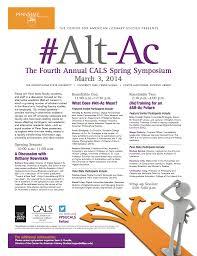th annual cals symposium to discuss alternate academic careers alternate academic careers poster