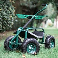 green kinbor garden cart rolling work