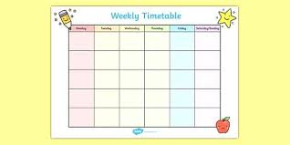 Blank Revision Timetable Template Image Teachers Excel ...