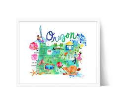 oregon map by sara franklin portland