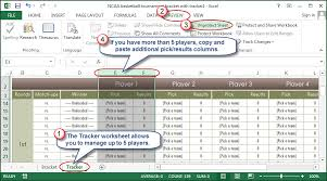 How To Use Excel To Manage March Madness Going Concern