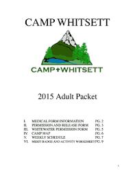 Fillable Online Campwhitsett Bsa Medical Form Information - Camp ...