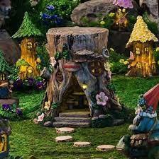 tree stump fairy my fairy garden