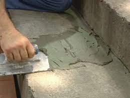 ordinary concrete porch