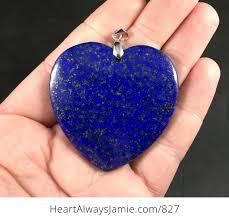 blue sparkly lapis lazuli heart shaped stone pendant pjyy17fzec0 1