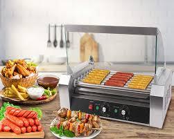 Safstar Commercial 18 <b>Hot Dog</b> 7 Roller Machine <b>Stainless</b> Steel ...