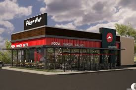 pizza hut building design. Brilliant Building The New Pizza Hut Restaurant Design Focuses More On Delivery And Carryout  Than Dinein Business  Courtesy Of To Building Design T