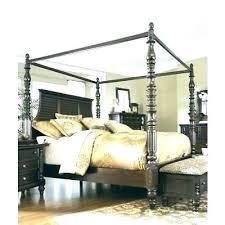 Black King Canopy Bed Wood – portreti.info