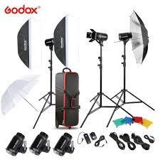Original <b>Godox E300</b>-D Photo Studio Speedlite Lighting Kit with ...