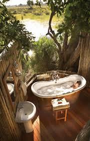 Tropical Bathroom Decor Cream Ceramic Bathtub Cream Ceramic Tile ...