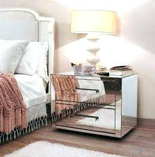 Mirrored Side Table With Drawer Mirrored Bed Side Table Mirrored Night  Stands Bedroom Two Drawers Mirrored