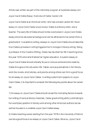 calam atilde copy o joyce carol oates essay overview of oates career life