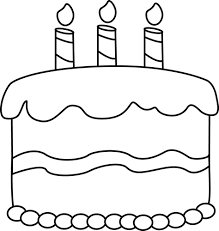 birthday candle clip art black and white. Fine White Small Black And White Birthday Cake Clip Art Cartoon  Cake Inside Candle Art And A