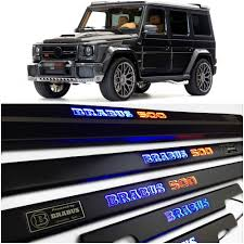 Brabus leather nappa cuoio brown brabus are celebrating their 40th anniversary in style with the release of the €666,000 one of ten g class 900; Amazon Com Mercedes Benz G63 G55 G500 G Wagon G Class W463 Brabus 500 Style Entrance Mouldings Led Illuminated Door Sills Interior Trim Set 5 Pcs Stainless Steel Black Matte Blue And Orange Sign Automotive