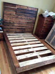 ... Diy Pallet Bed Frame With Storage Instructions Made Of Wood Pallets  Using ...