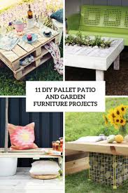Diy Furniture Projects 11 Diy Pallet Patio And Garden Furniture Projects Shelterness