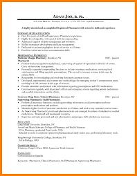 6 Sample Pharmacist Resume Self Introduce