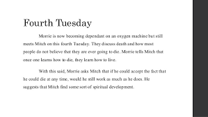 tuesdays morrie book review 22 fourth tuesday morrie