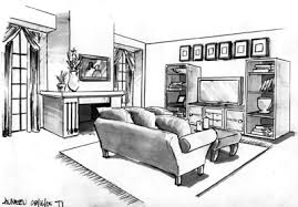 interior design sketches living room. Sketches Living Room Interior Design O