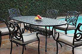 aluminum patio furniture.  Aluminum CBM Outdoor Cast Aluminum Patio Furniture 7 Pc Dining Set G CBM1290 In U