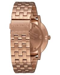 nixon porter watch all rose gold blk surfstitch all rose gold blk mens accessories nixon watches a10571932