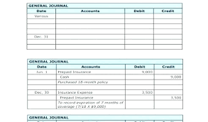 Excel Journal Entry Template Accounting Journal Template