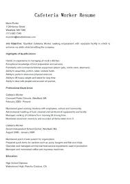 Food Service Job Summary Resume For Worker Community Download