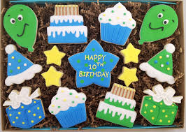 Message Cookie Designs Boy Birthday Cookie Gift Box Customize With Your