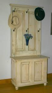 diy turn a door into hall tree laura s hall tree was designed from vine raised panel door s we