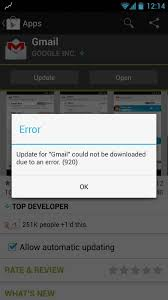 Android Fix for error 920 or App could not be downloaded due to an ...