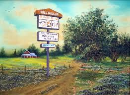 Bill Millers Bbq Texas Nostalia Wall Art Series