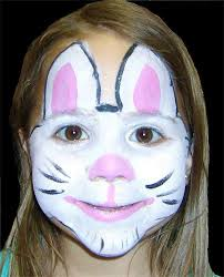 Small Picture Easter Bunny Makeup Ideas Face paint bunnies Pinterest Bunny